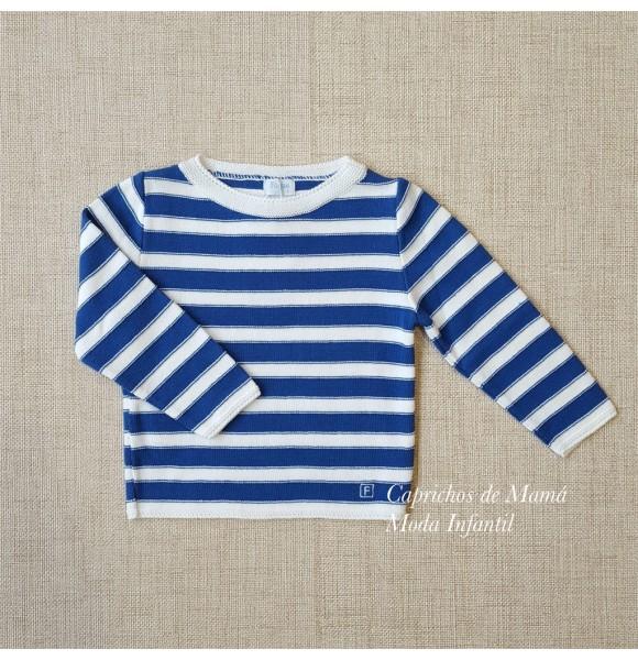 Jersey niña de Foque a rayas azul y blanco