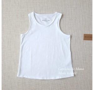 Camiseta niña de Mía y Lía blanca asas