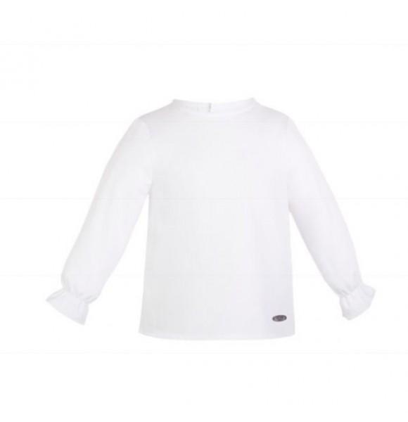 Camisa niña Balmoral de Eve Children blanca
