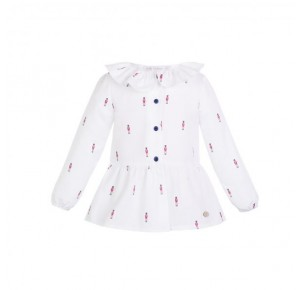 Camisa niña British de Eve Children estampada