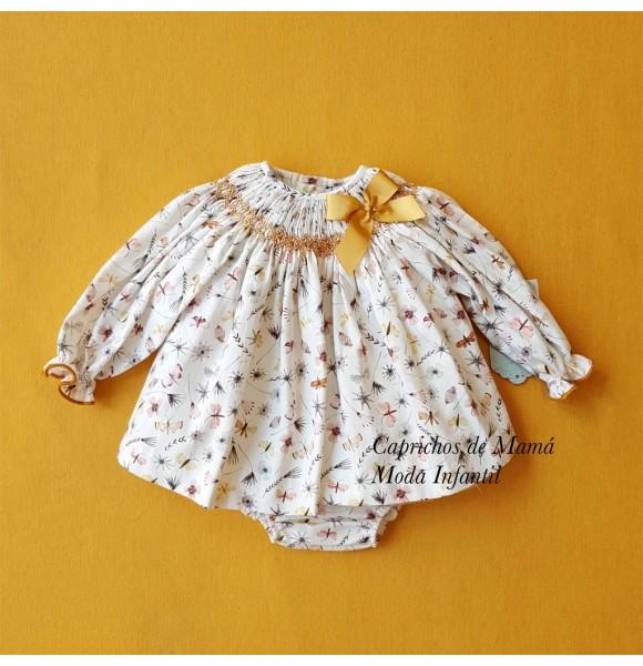 Jesusito bebé niña de Nini punto inglés mariposas