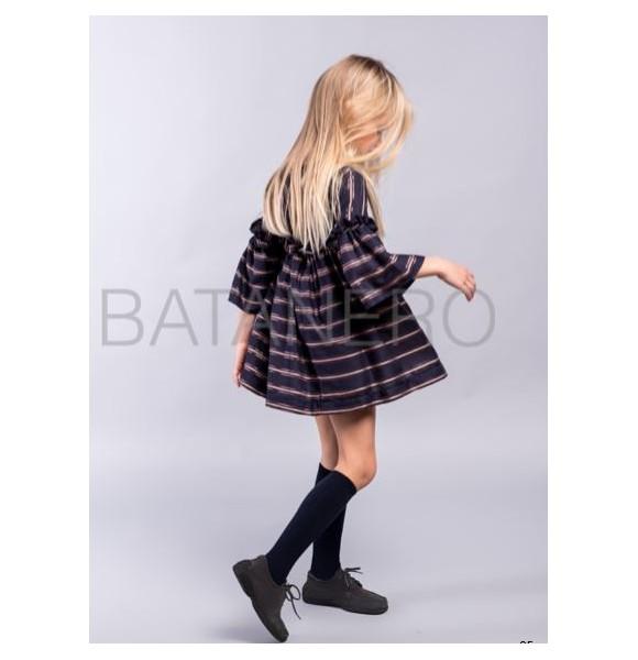 Vestido niña de Pilar Batanero rayas lurex