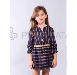 Conjunto niña de Pilar Batanero blusa y falda lurex