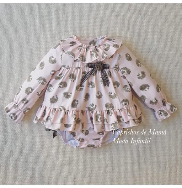 Conjunto bebé niña Espinete de Lolittos blusón y cubre