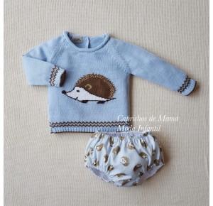 Conjunto bebé niño Espinete de Lolittos jubón y cubre