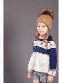 Conjunto niña Nuez de Kauli blusón, short y jersey