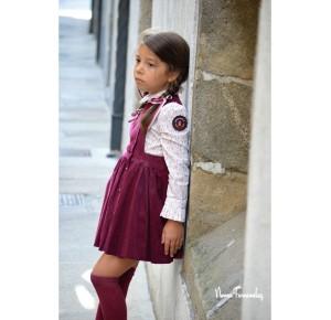 Conjunto niña Vulcano de Noma Fernández blusa y pichi