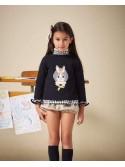 Conjunto niña Cora de Eva Castro camisa y bombacho