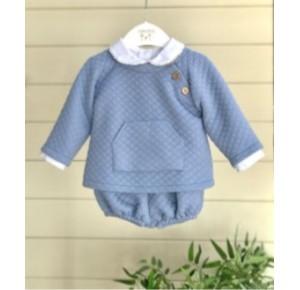 Conjunto bebé niño de Valentina Bebés azul celeste