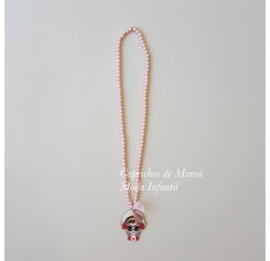 Collar niña Frida de Lunares en Mayo rosa
