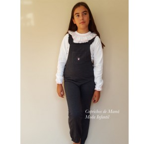 Conjunto niña de Eva Castro mono gris y camiseta