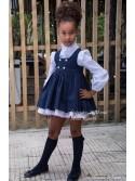 Conjunto niña Navy de Noma Fernández pichi y camisa
