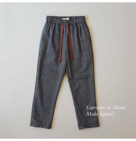 Pantalón niña de Mía y Lía espiga gris