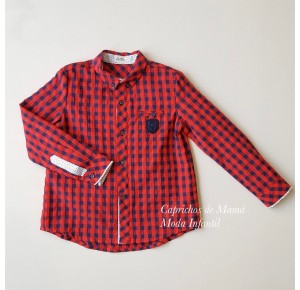 Camisa niño Cachemir de Lolittos cuadros