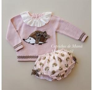Conjunto bebé niña Espinete de Lolittos jubón y cubre