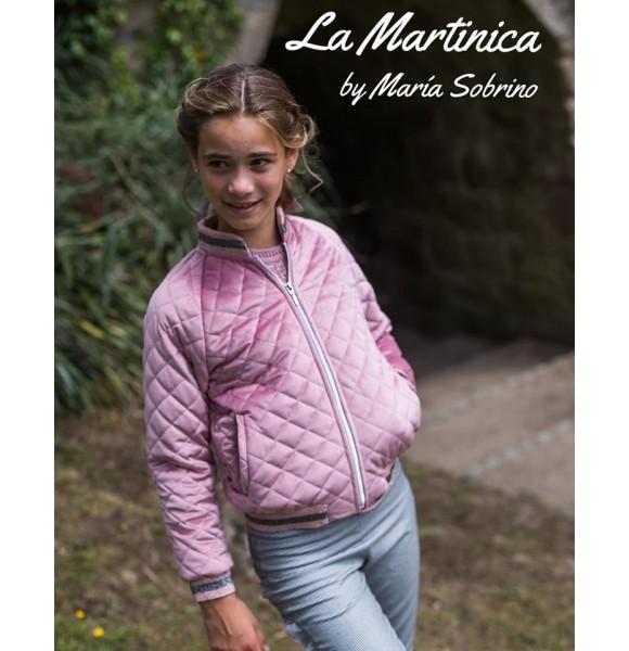 Bomber niña Ceniza de La Martinica rosa maquillaje