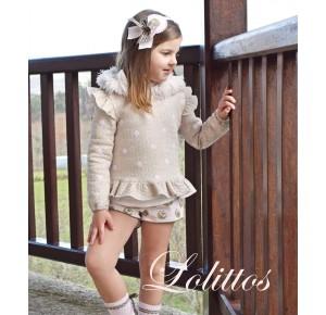 Conjunto niña Espinete de Lolittos sudadera y short