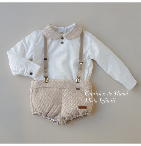 Conjunto bebé niño Espinete de Lolittos rana y camisa