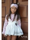 Conjunto niña René de Noma Fernández falda y blusa