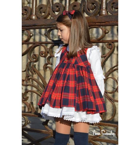 Conjunto niña Glasgow de Noma Fernández pichi y blusa