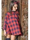 Vestido niña Glasgow de Noma Fernández cuadros rojo