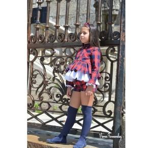 Conjunto niña Glasgow de Noma Fernández short y blusón