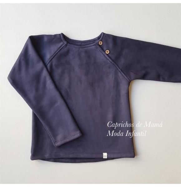 Jersey niño de Pilar Batanero antelina azul marino