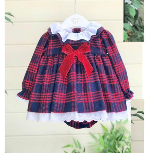 Jesusito bebé niña Valentina Bebés cuadro gales rojo