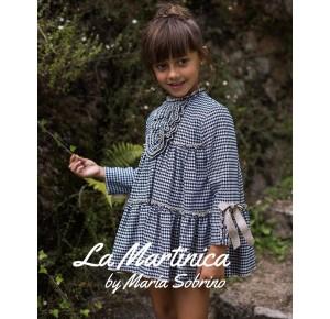 Vestido niña Buckinham de La Martinica pata de gallo