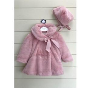Abrigo bebé niña de Valentina Bebés pelo con capota