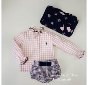 Conjunto niña Olivia de Eva Castro camisa y bombacho