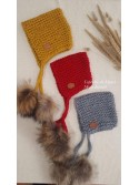 Gorro Square unisex de My Wool pompones pelo