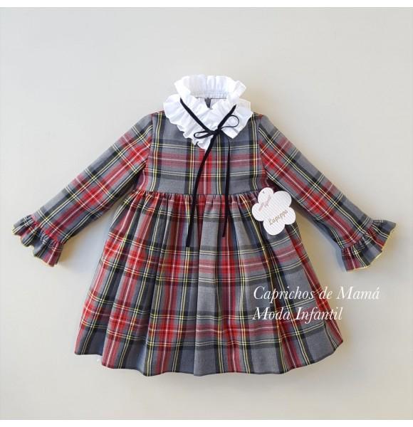 Vestido niña de Lapeppa cuadros tartán