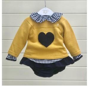Conjunto bebé niña de Valentina Bebés jersey corazón