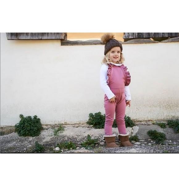 Peto niña Phiona de Petite Antoinette rosa volantes