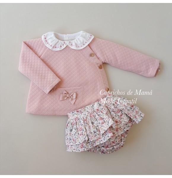 Conjunto bebé niña de Valentina Bebés rosa flores