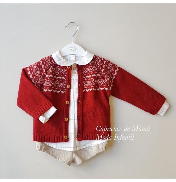 Conjunto bebe niño de Valentina Bebés chaqueta greca