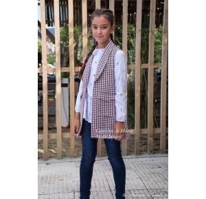 Conjunto niña British de Eve Children chaleco y camisa