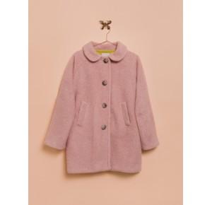 Abrigo niña de Lunares en Mayo pelo rosa