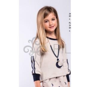 Jersey niña de Pilar Batanero liso rayas