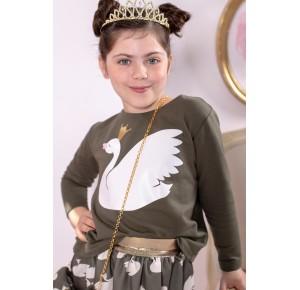 Sudadera niña Cisne de Mon Petit