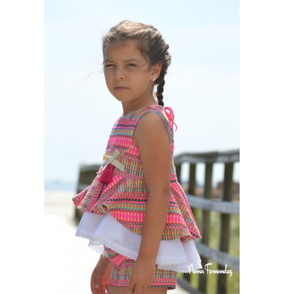 Conjunto niña blusón y short Renata de Noma Fernández