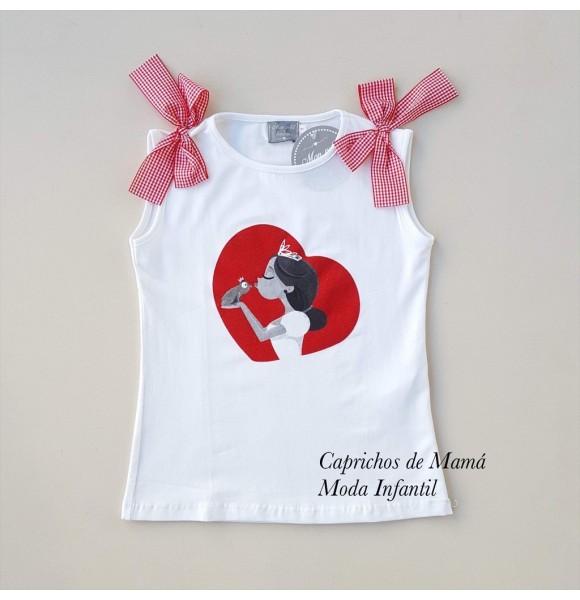 Camiseta niña princesa besando rana de Mon Petit