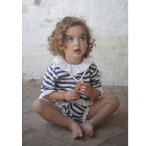 Conjunto bebé sudadera y pololo rayas Pilar Batanero