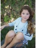 Conjunto niña verde agua y negro de Pilar Batanero