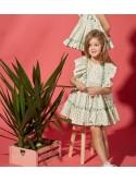 Vestido niña Alessia de Eva Castro liberty verde
