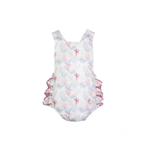 Pelele bebé niña corales de Eve Children