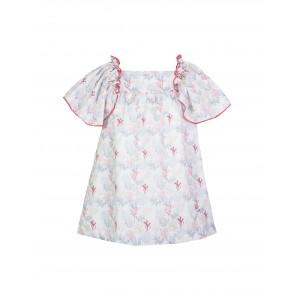 Vestido niña corales de Eve Children lazo espalda