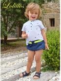 Conjunto bebé niño camisa y bombacho Star de Lolittos