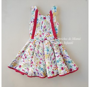 Vestido niña Lavanda de Lolittos estampado flores